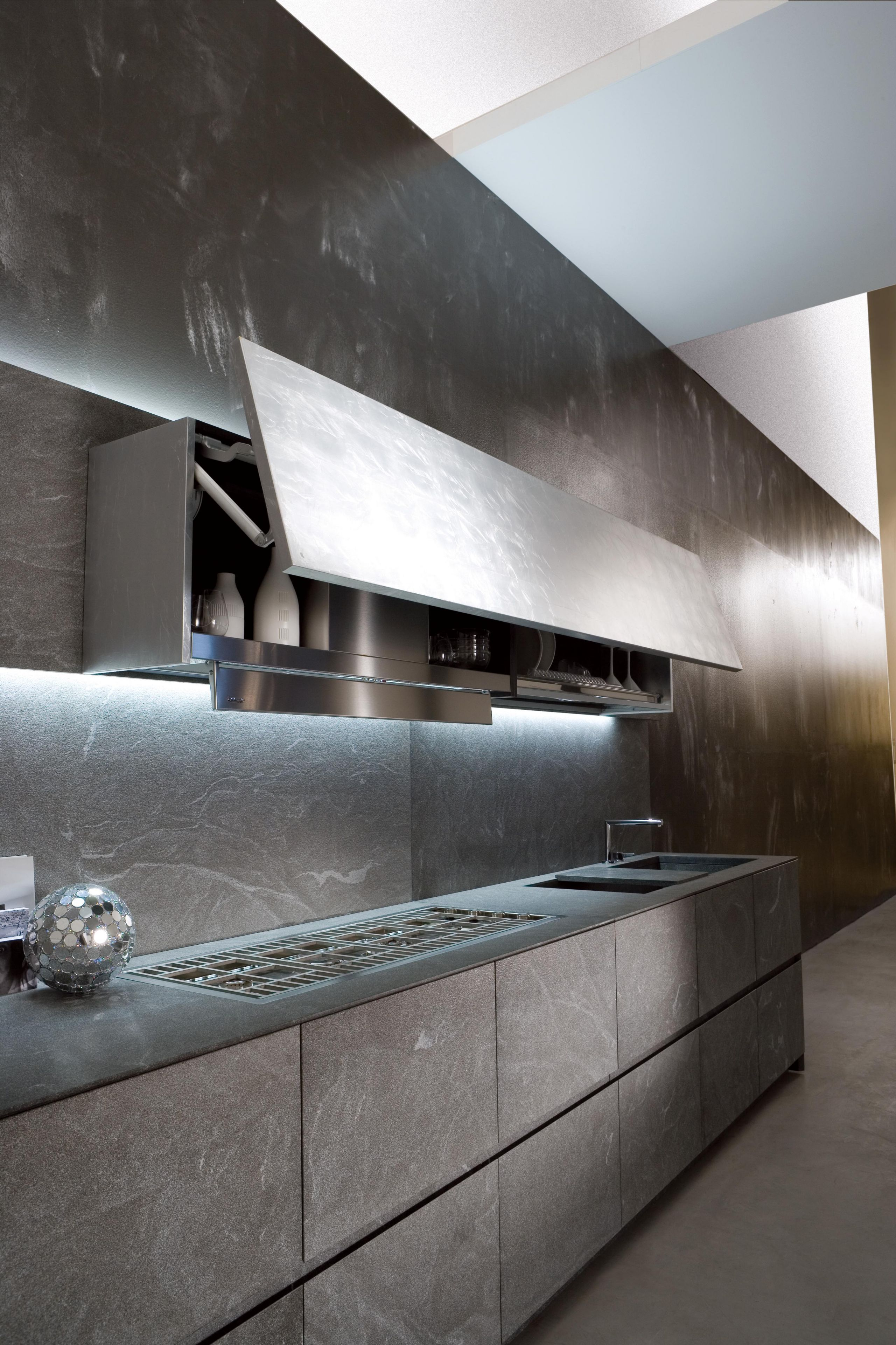 A custom stone kitchen with the perfect dose of minerality