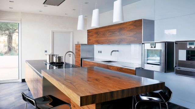 L'excellence dans la maîtrise des matériaux d'exception, cuisine technologique et intemporelle