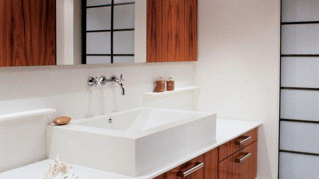 Salle de bain en Palissandre