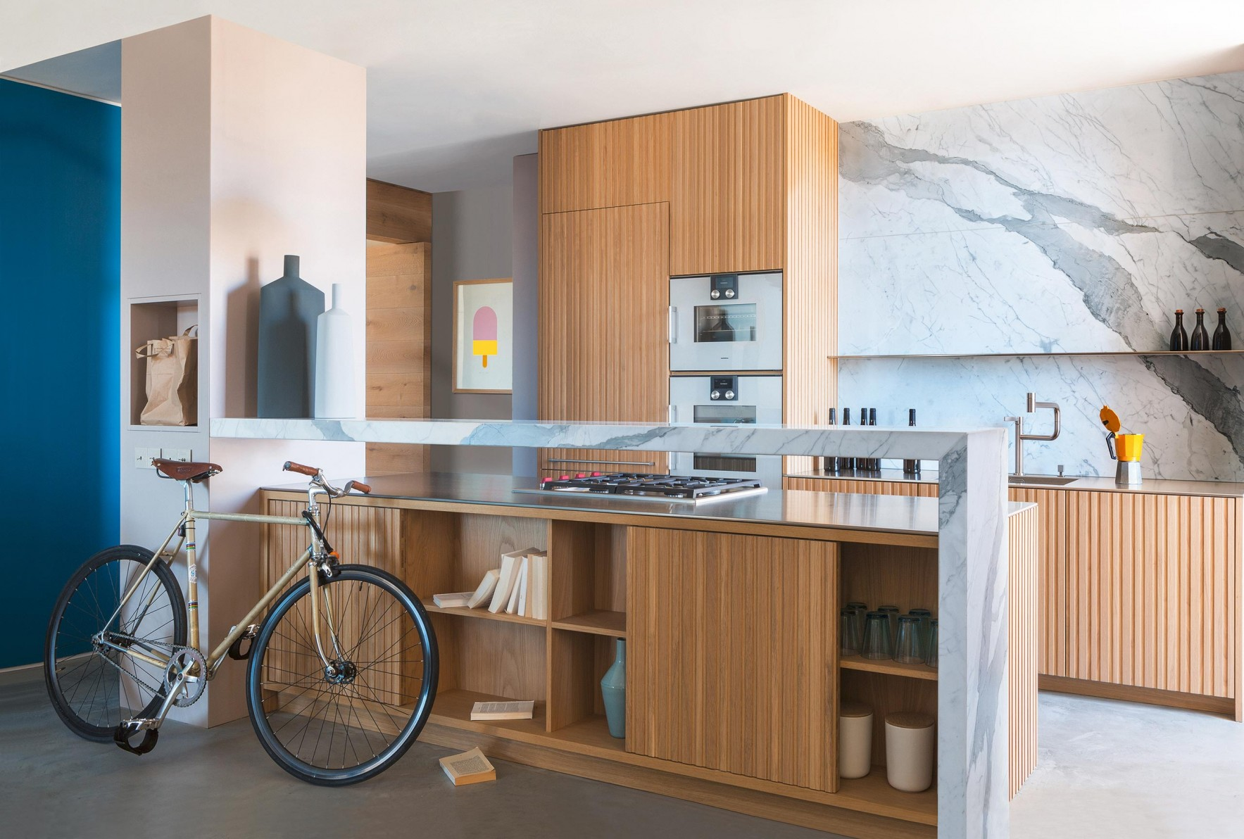 A contemporary style kitchen dressed in the sophisticated warmth of wood.